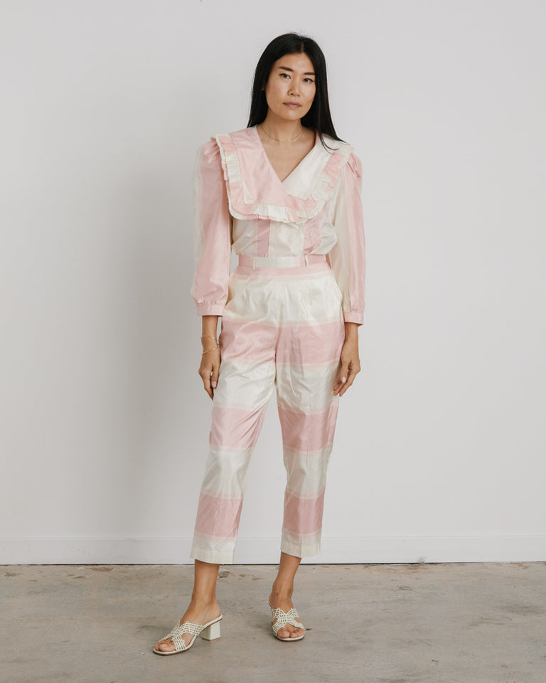 Joan Pant in Pink Stripe