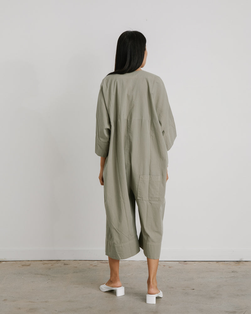 Tape Jumpsuit in Beech Tree