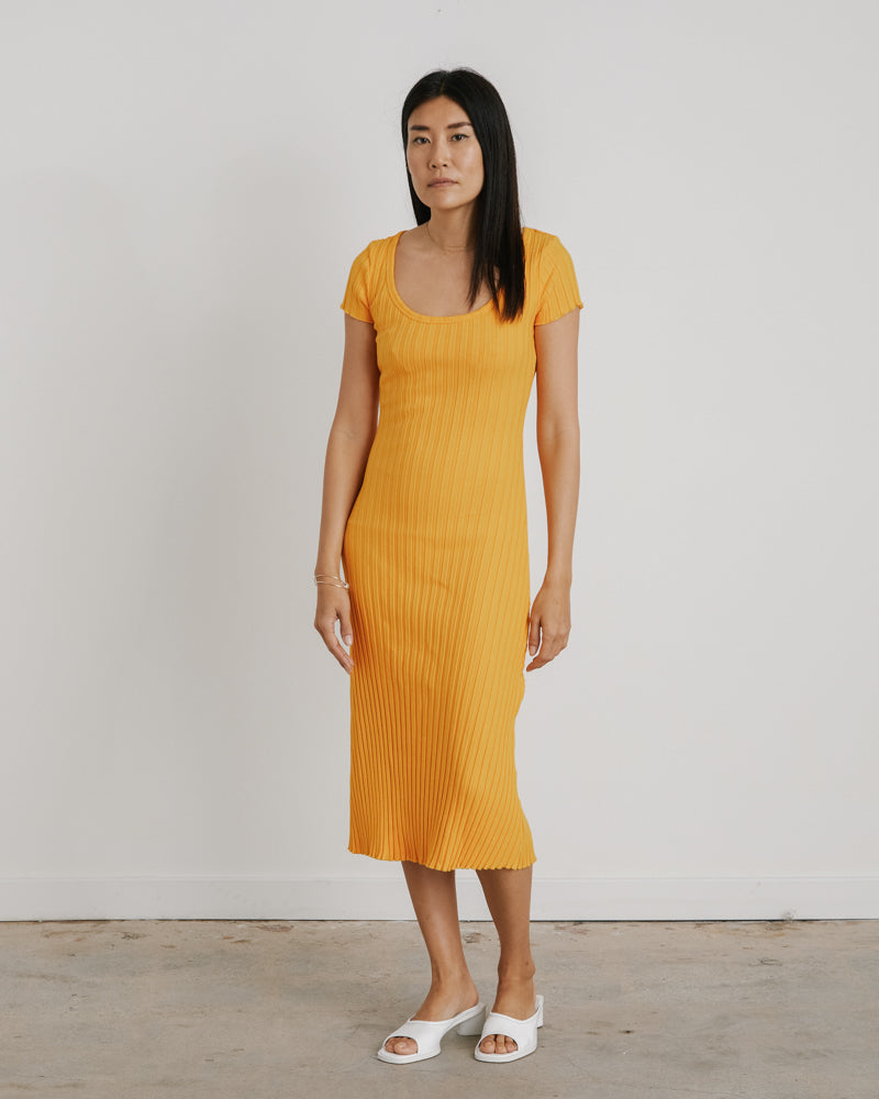 Sunset Andros Dress in Sunset Orange