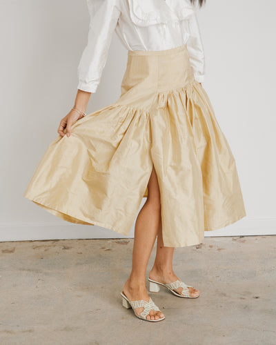 Garden Skirt in Gold