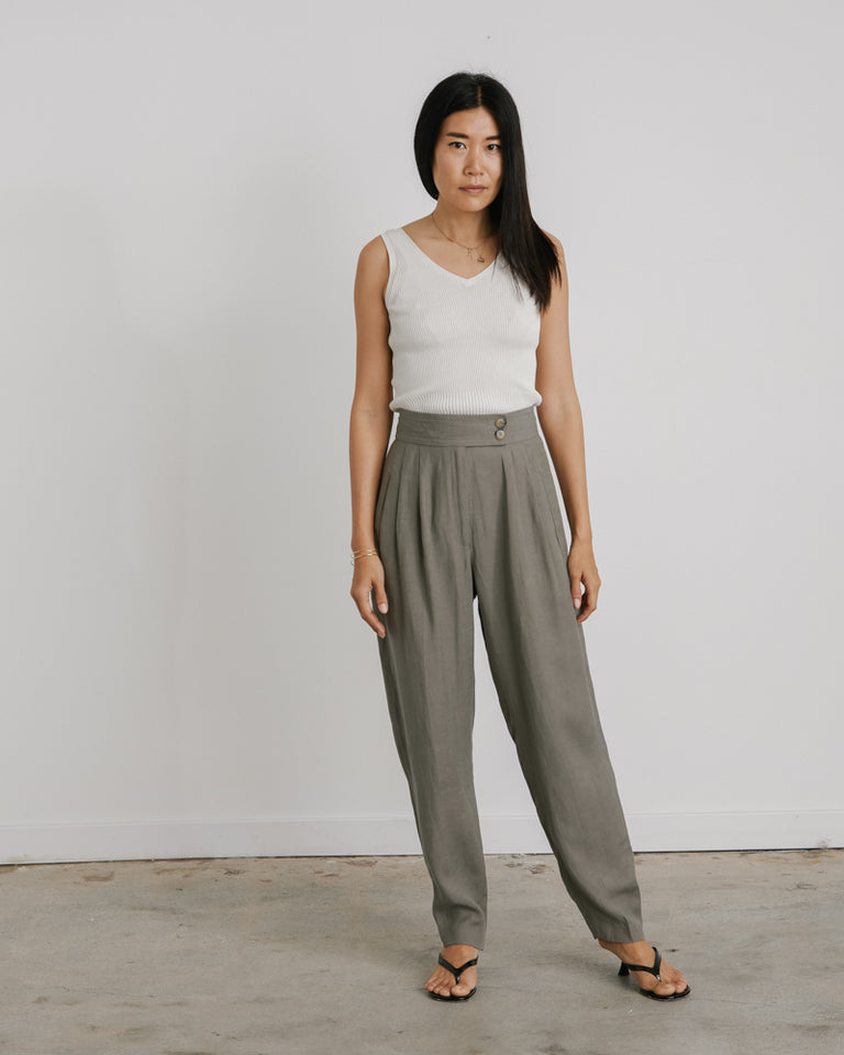 Oxford Pant in Olive