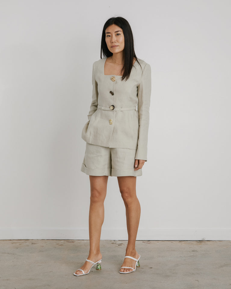 Martina Jacket in Artichoke Green