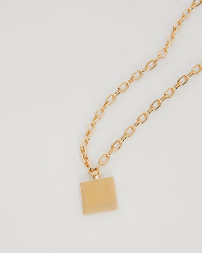 Square Chain in 10K Plated