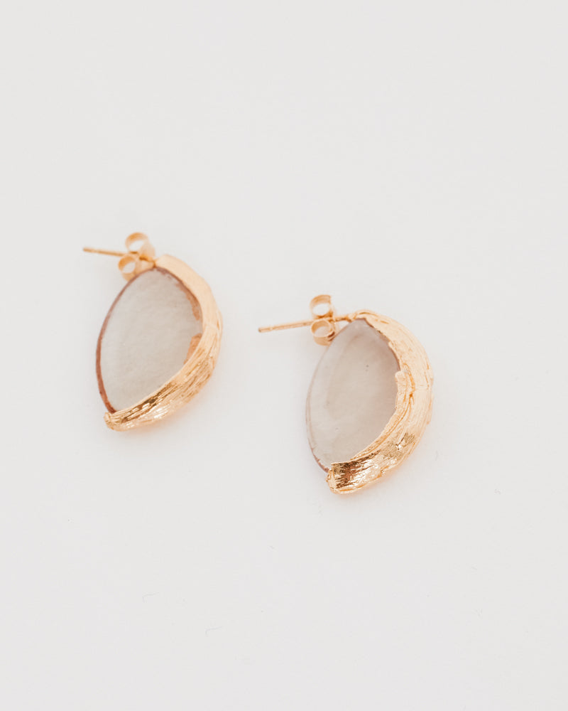 Bagworm Earrings in Gold Plated