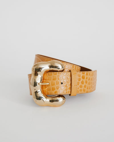 Boule Belt in Croc Clay