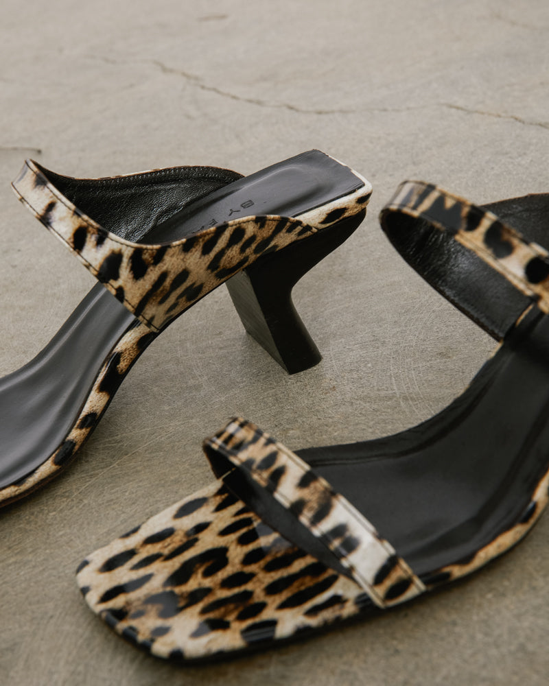 Paola Leopard Print Leather Shoe in Leopard Print