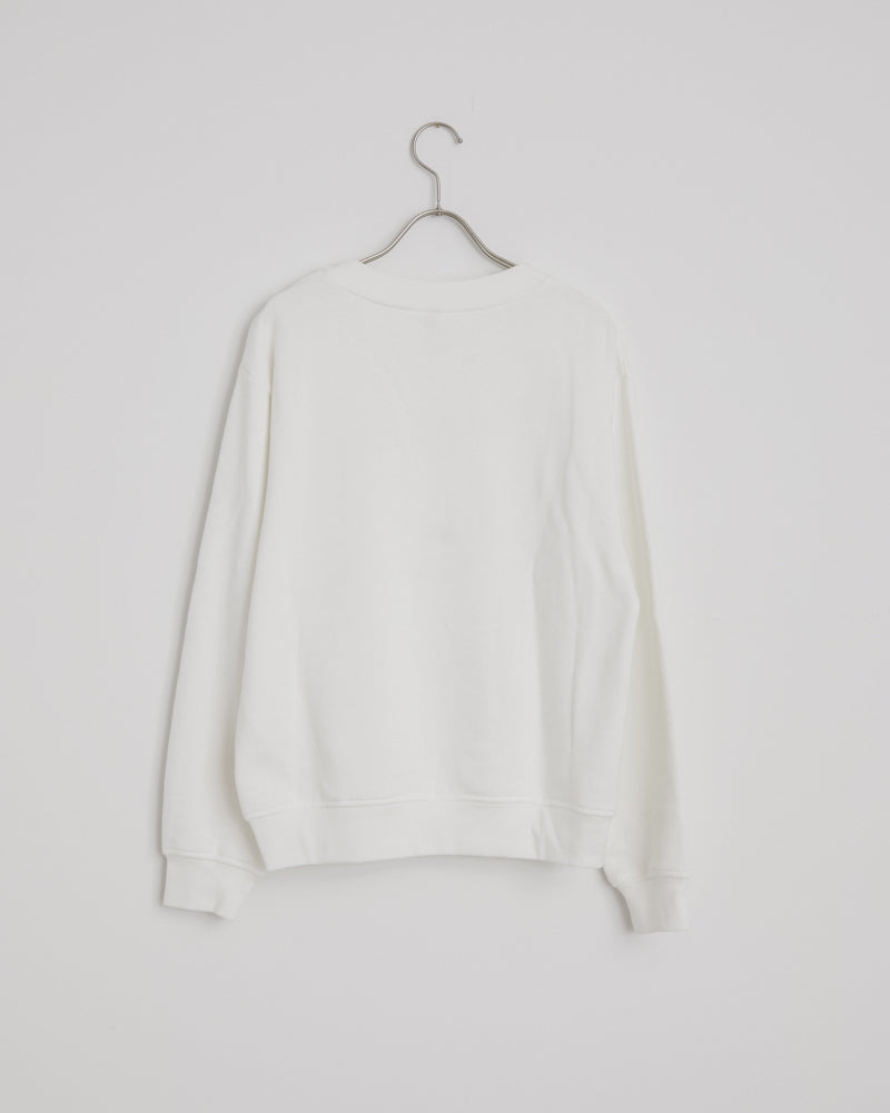 Female Pink Label Sweatshirt in Optic White