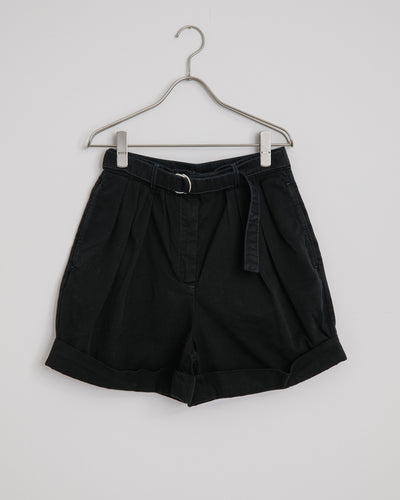 Rowanne Cotton Twill Shorts in Black