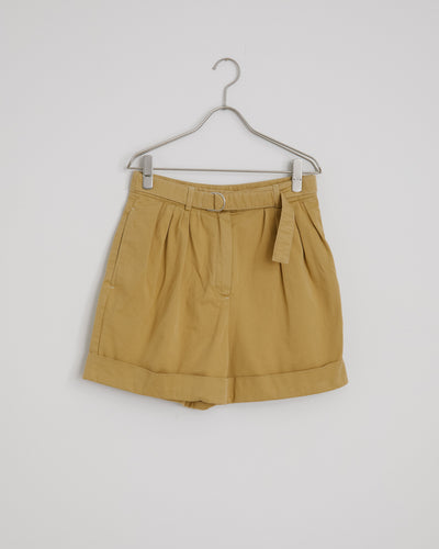 Rowanne Cotton Twill Shorts - Almond Beige