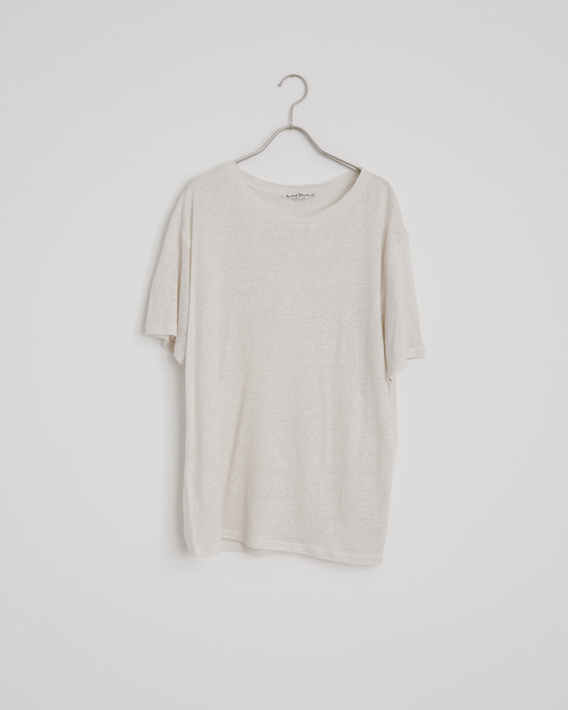 Ember Linen T-shirt in Off White