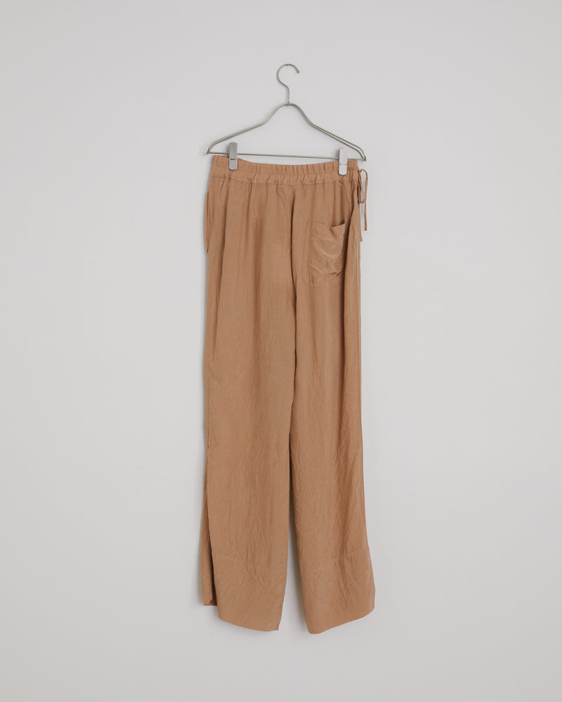 Pame Structured Fluid Trousers in Old Pink