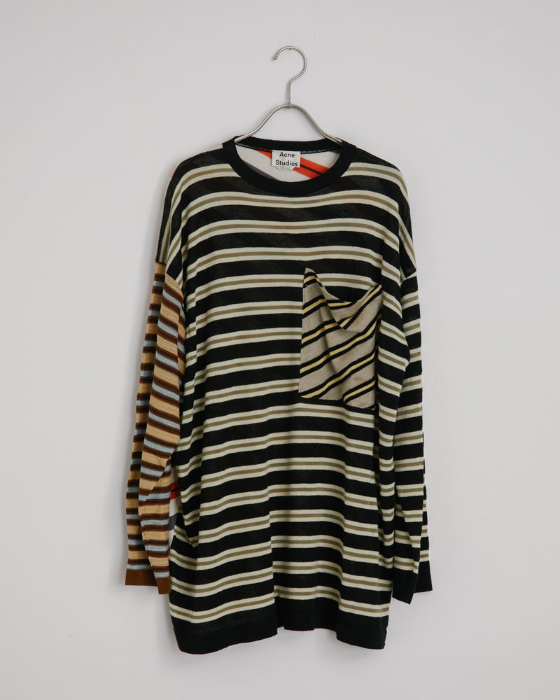 Kadine Stripe Knitwear in Beige/Multi