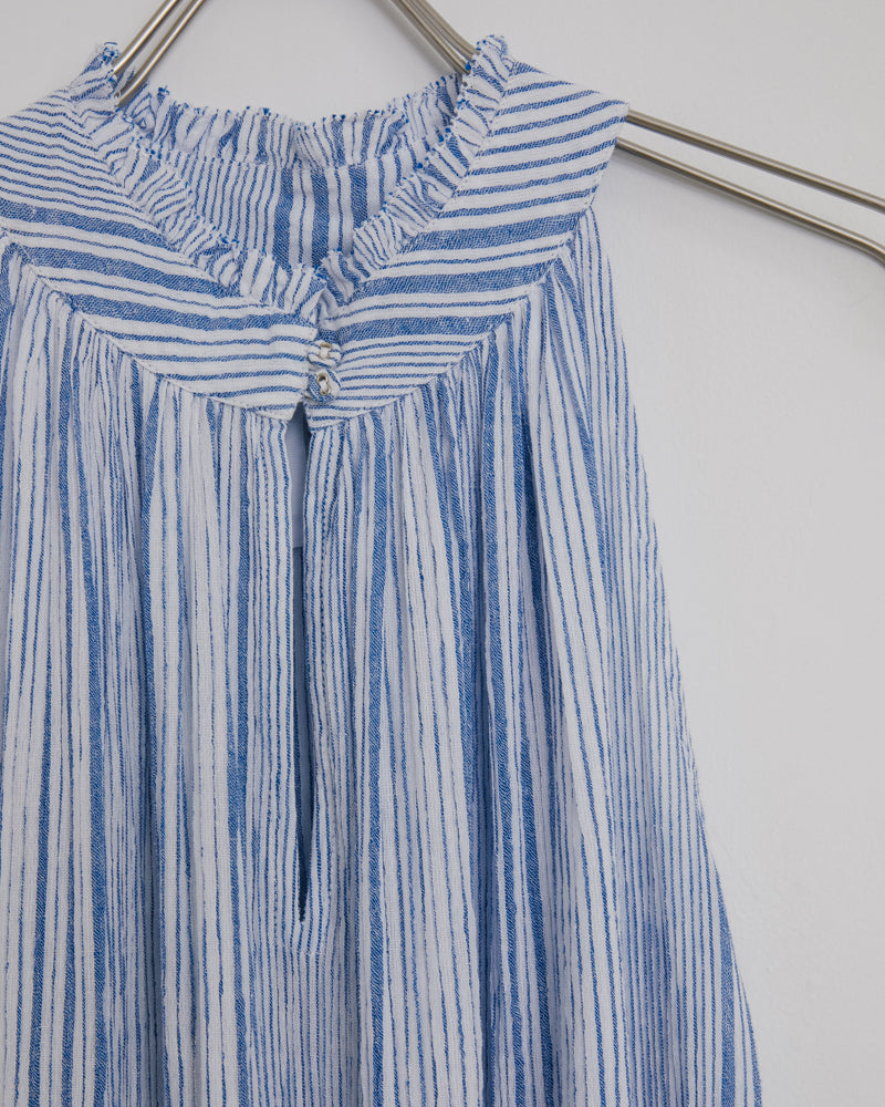 Nissi Tiers Dress in Adriatic Mini Stripe