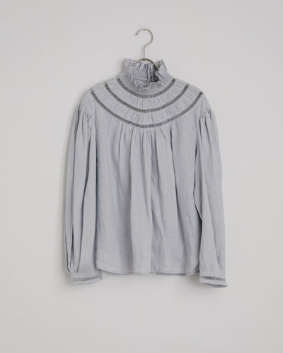 Amalia Top in Greyish Blue