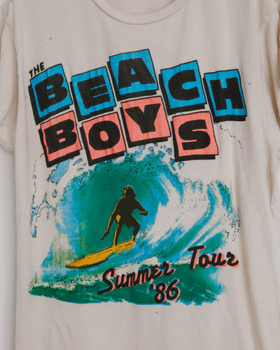 Beach Boys Tee in Off White