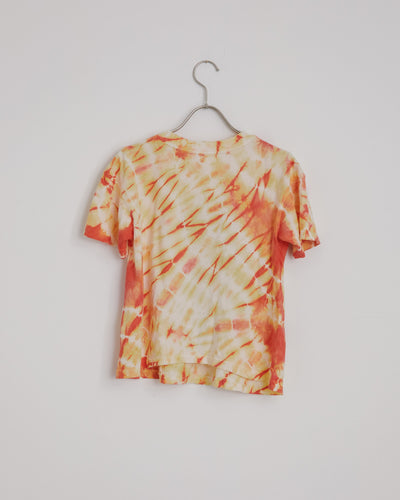 Bob Dylan Crop Tee in Tangerine Dream