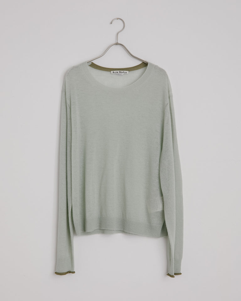 Kaeli Transparent Wool in Pastel Green