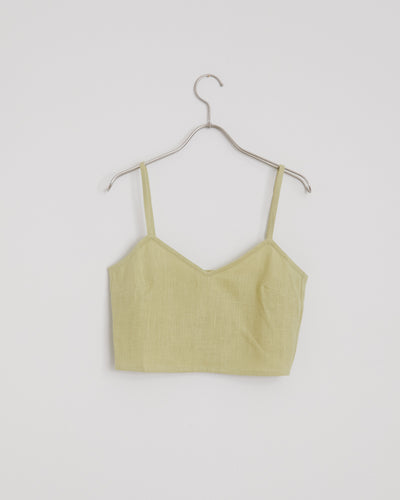 Cairo Top in Pastel Lime