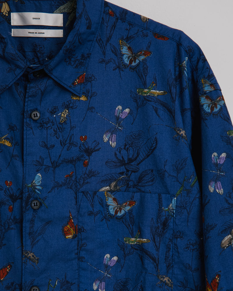 Kato Shirt in Botanical Print Navy