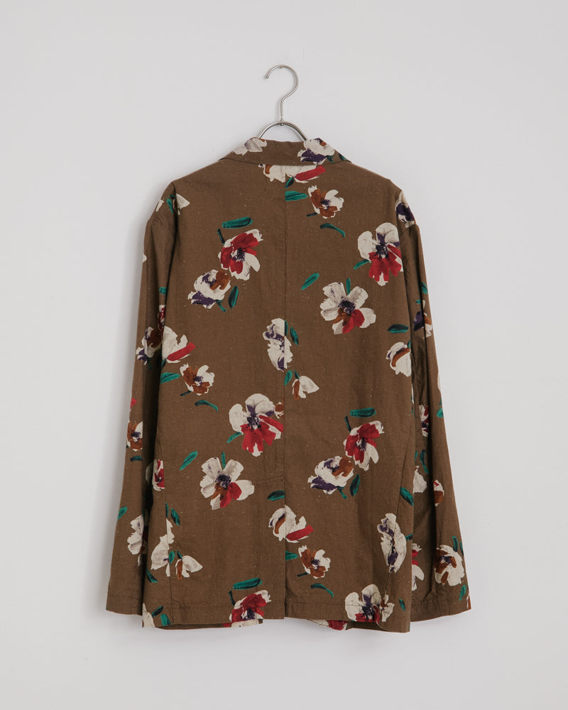 Floral Blazer in Bark
