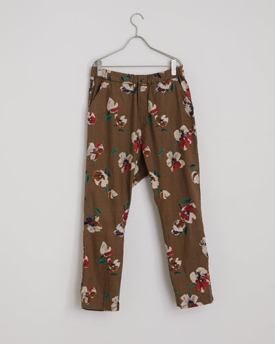 Floral Yoyogi Pant in Bark