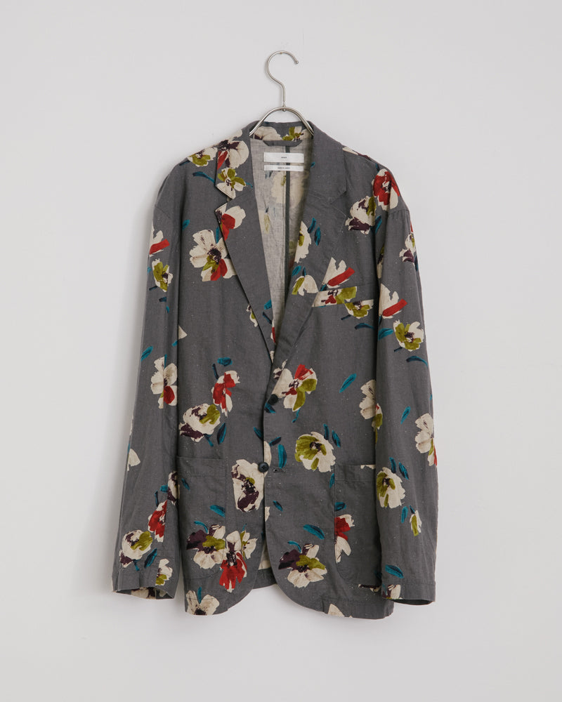 Floral Blazer in Gray