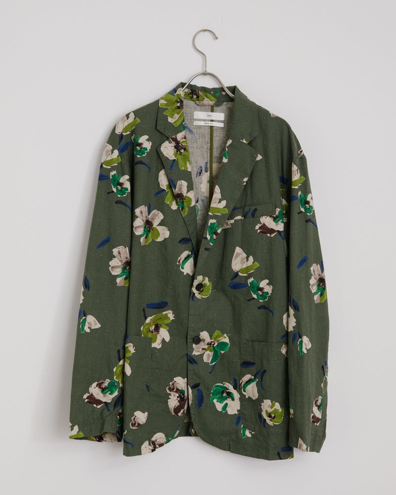 Floral Blazer in Avocado