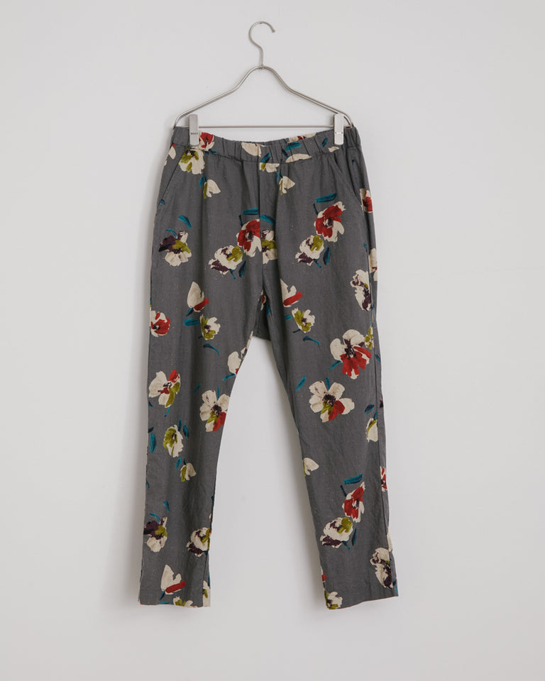 Floral Yoyogi Pant in Gray