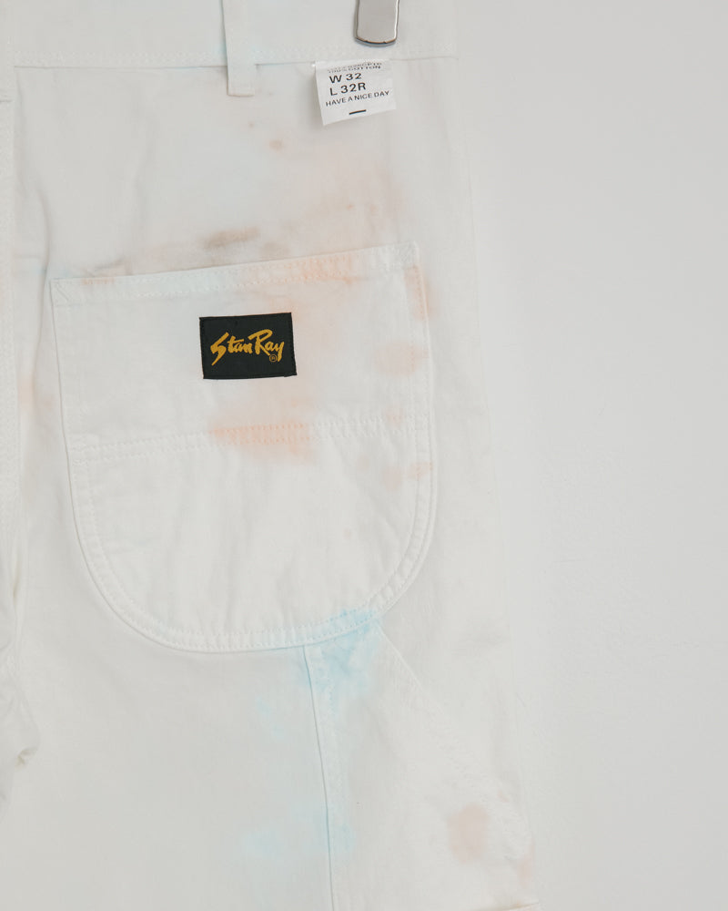 80's Painter Pant in Coral Tye-Dye