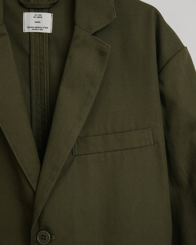 West Coast Jacket in Herringbone Olive