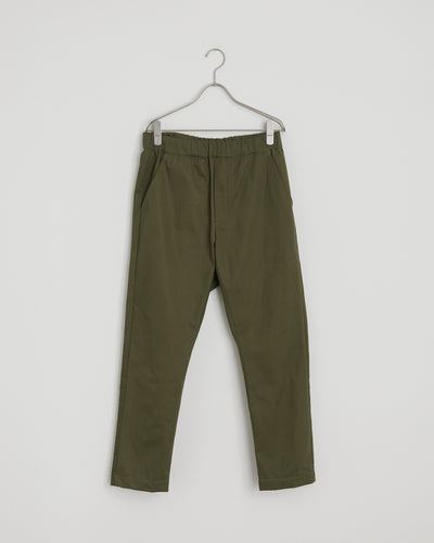 West Coast Yoyogi Pant in Olive Herringbone