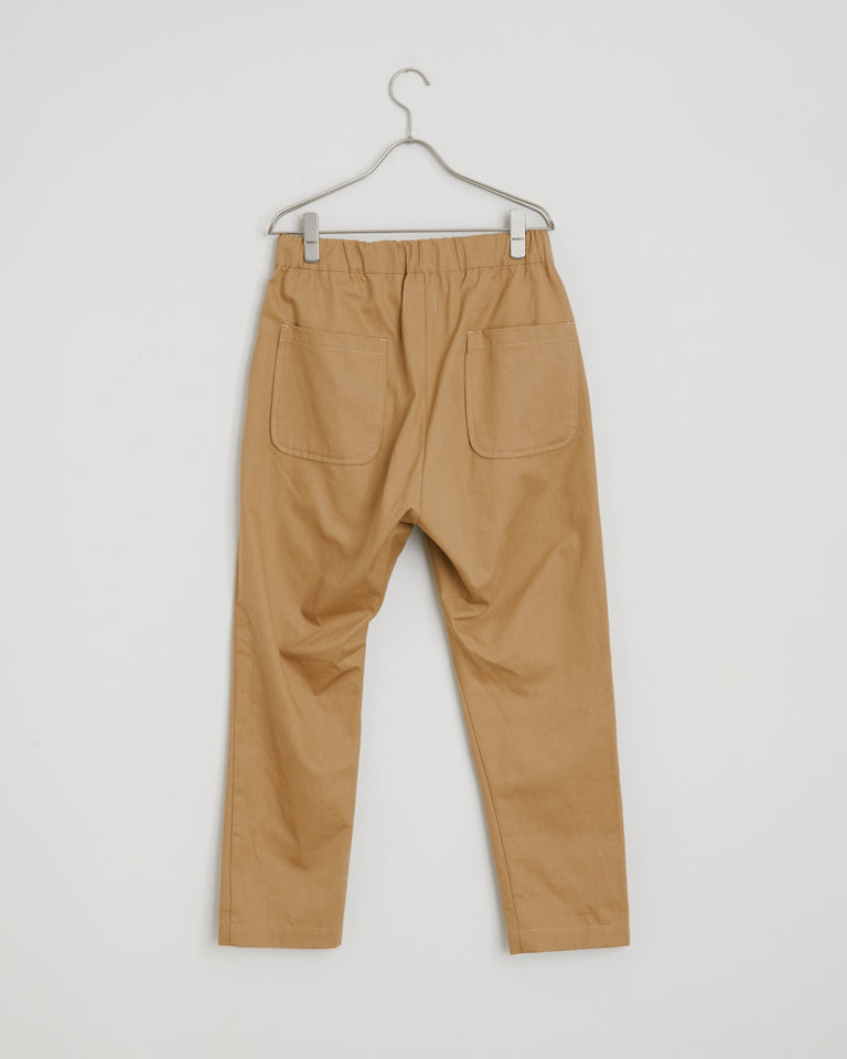 West Coast Yoyogi Pant in Khaki Herringbone