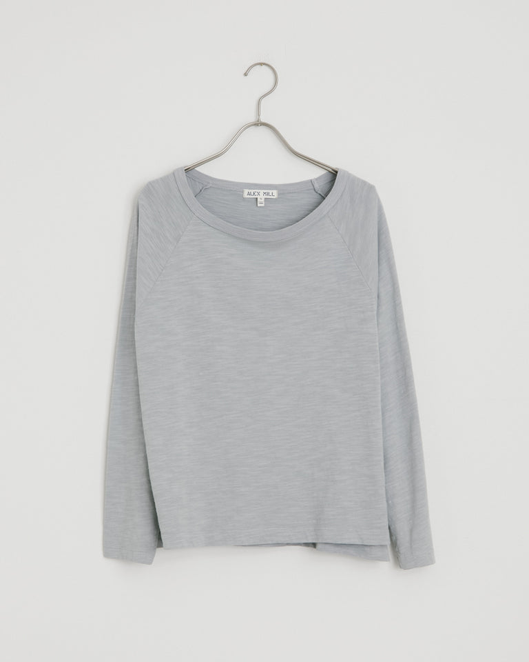 Raglan Tee in Steel Gray