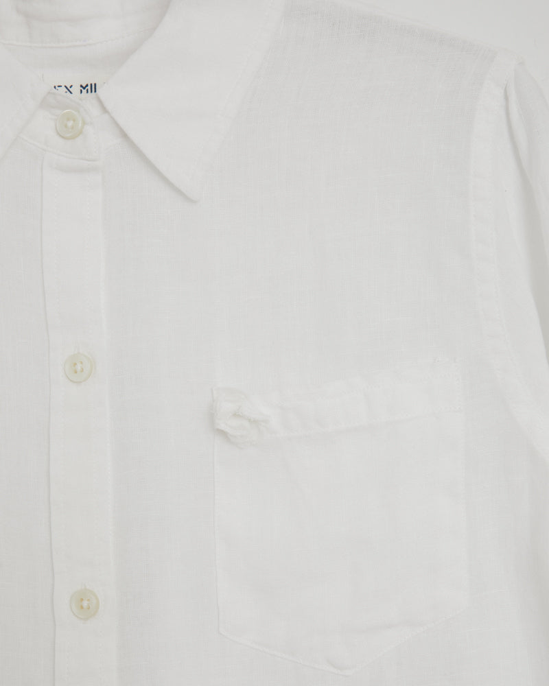Standard Shirt Linen in White