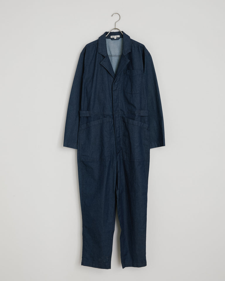 Standard Cotton Jumpsuit in Indigo