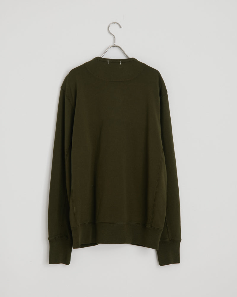 French Terry Cardigan in Deep Olive