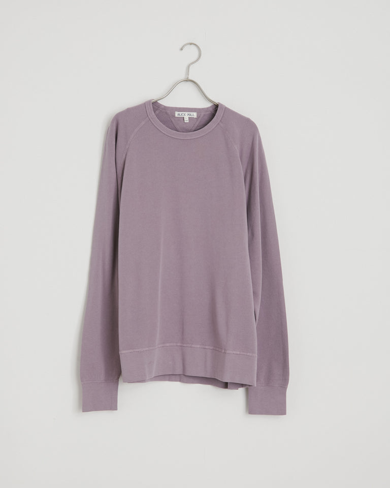 Standard Lightweight Sweatshirt in Gray Lilac