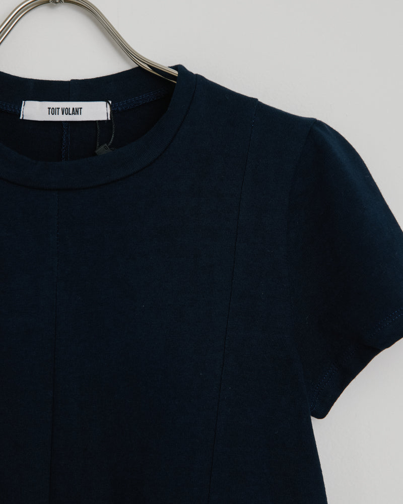 Tomboy Short Sleeve Baby Tee in Navy