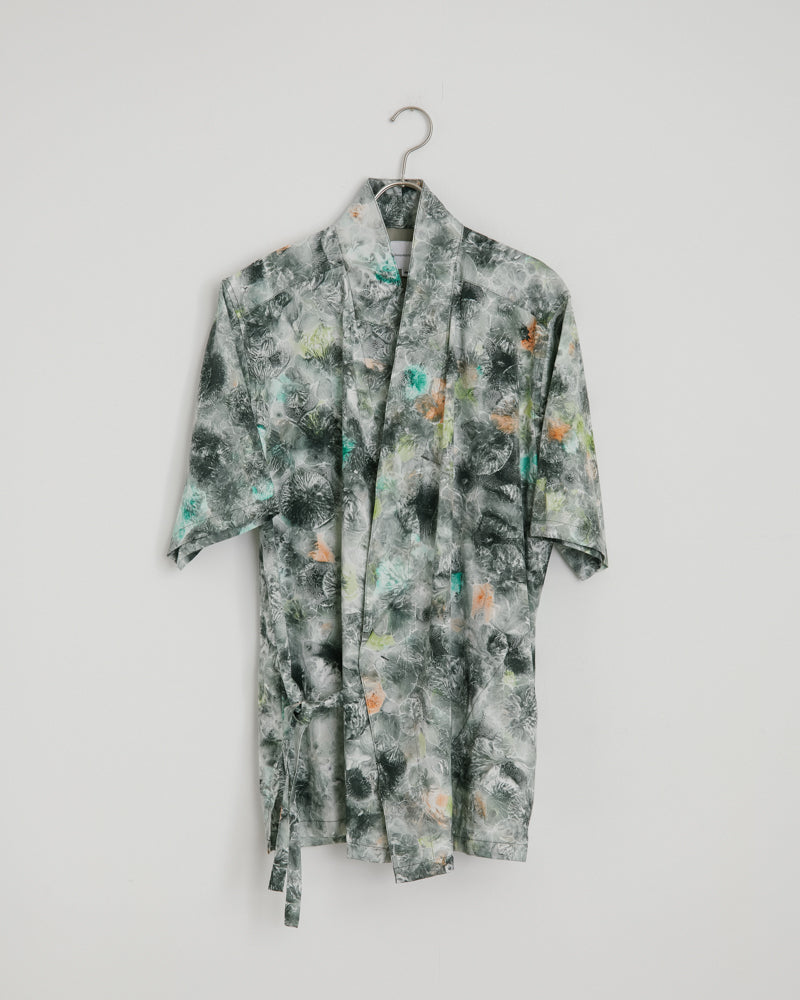 H/S Jinbei Shirt in Green Pattern
