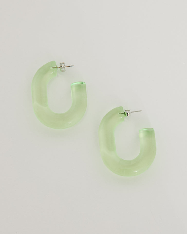 Small Keeper Earring in Neon Yellow