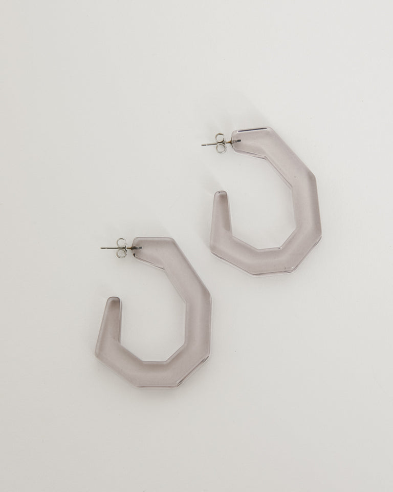 Baby Factor Earrings in Smokey Grey