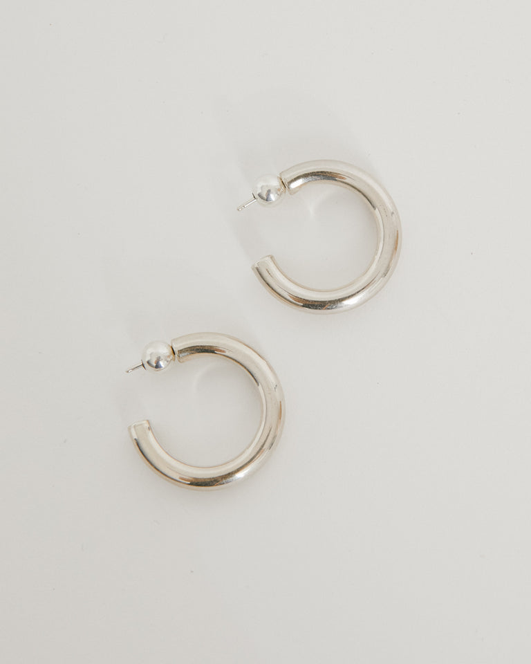 Small Everyday Hoops in Sterling Silver