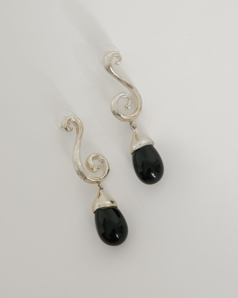 Spiral Earrings in Small Glass
