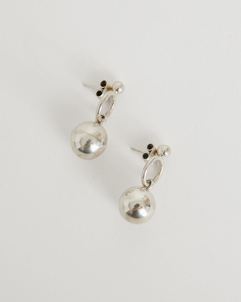 Pipa Earring in Silver