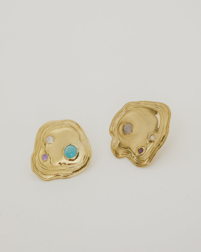 Lava Studs in Brass