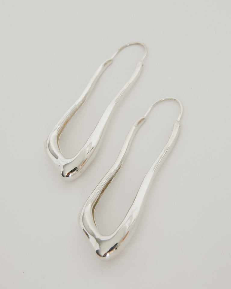 Lanky Hoops in Sterling Silver