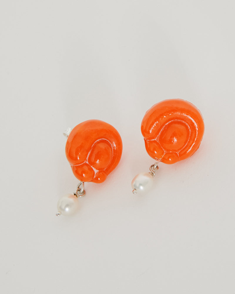 Mildred Earrings in Orange