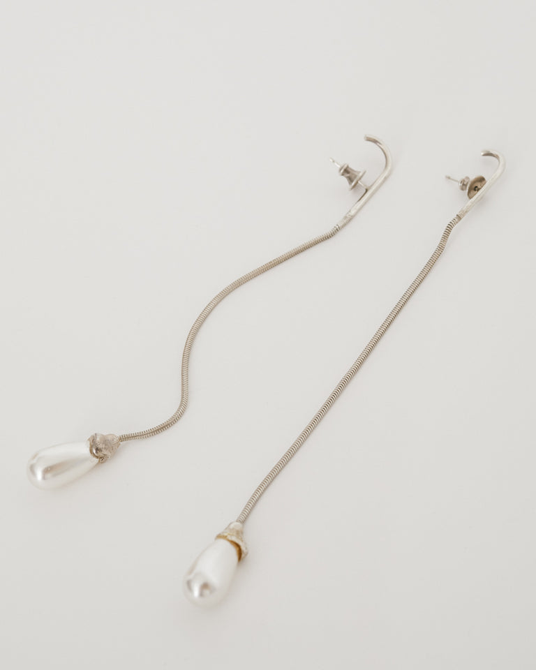Pearl Snake Earrings (Pair)