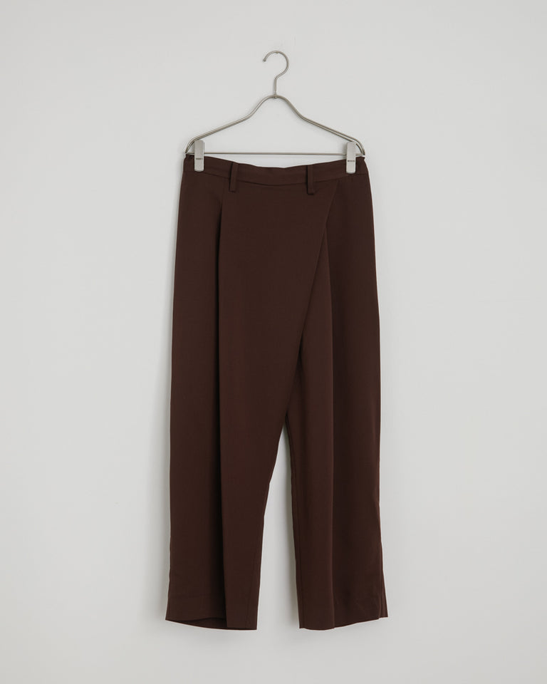 Asymmetric Pants in Bordeaux