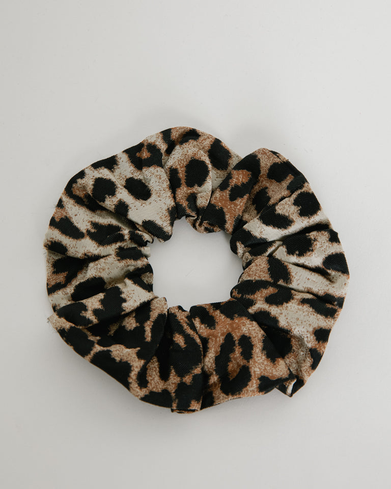 Crispy Jacquard Scrunchie in Phantom